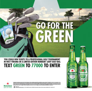Heineken tuck card design