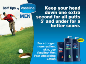 Vaseline Men Golf Ad