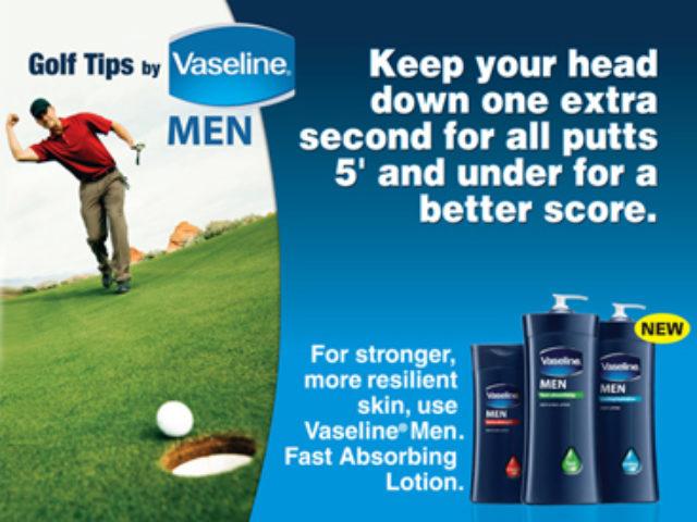 Vaseline golf ad