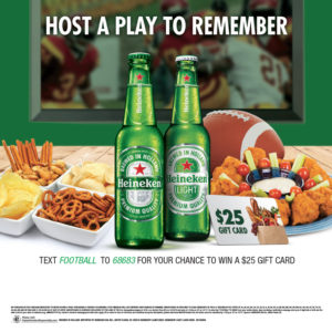 Heineken tuck card